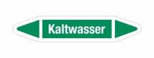 Rohrleitungskennzeichnung Aufkleber Etikett Kaltwasser...