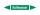 Rohrleitungskennzeichnung Aufkleber Etikett Kaltwasser DIN 2403 Wasser - 75 x 15 mm / 20 Stück