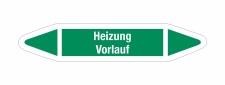 Rohrleitungskennzeichnung Aufkleber Etikett Heizung...