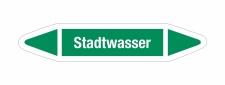 Rohrleitungskennzeichnung Aufkleber Etikett Stadtwasser...