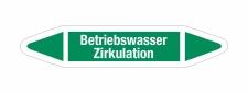 Rohrleitungskennzeichnung Aufkleber Betriebswasser...