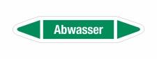 Rohrleitungskennzeichnung Aufkleber Etikett Abwasser DIN...