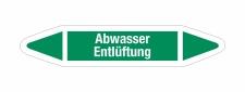 Rohrleitungskennzeichnung Aufkleber Etikett Abwasser...