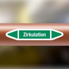 Rohrleitungskennzeichnung Aufkleber Etikett Zirkulation...
