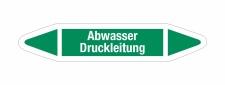 Rohrleitungskennzeichnung Aufkleber Abwasser Druckleitung...