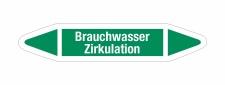 Rohrleitungskennzeichnung Aufkleber Brauchwasser...