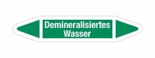 Rohrleitungskennzeichnung Aufkleber Demineralisiertes...