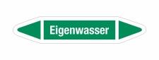 Rohrleitungskennzeichnung Aufkleber Etikett Eigenwasser...