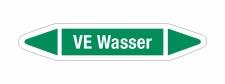Rohrleitungskennzeichnung Aufkleber Etikett VE Wasser DIN...