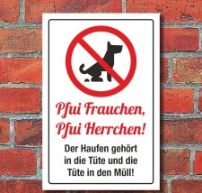 Schild Pfui Hundekot entsorgen Hundekacke Kein Hundeklo 3...