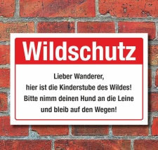 Schild Wildschutz Wildschutzgebiet Hunde an die Leine 3...