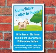 Schild Kein Hundeklo Hundekot Haufen Unrat Futterwiese 3...