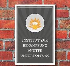 Schild Institut zur Bekämpfung akuter Unterhopfung...