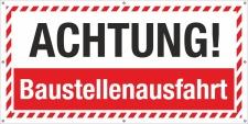 PVC Werbebanner Banner Plane Baustelle Sicherheit...