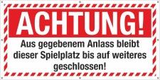 PVC Werbebanner Banner Plane Betreten verboten Sicherheit...