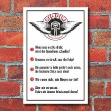 Schild Biker Regeln Motorrad Geschenk Geburtstag 3 mm...