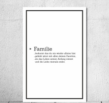 Vintage Shabby Holzschild Familie Definition...