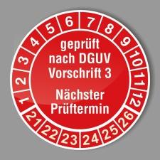 Prüfplakette 21-26 rot, Ø 20 mm,...