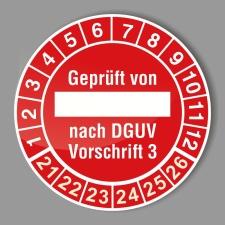 Prüfplakette 21-26 Textfeld rot, Ø 20 mm,...