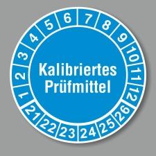Prüfplakette 21-26, Kalibriertes Prüfmittel...