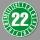 Prüfplakette 2022 Jahresplakette Siegel Aufkleber BGR UVV BGV Wartung - Ø 40 mm