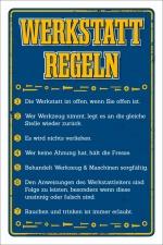 Schild Werkstatt Regeln Bastler Vatertag Geschenk...