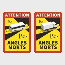 Aufkleber Magnetfolie Toter Winkel Angles Morts...
