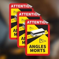 Toter Winkel Angles Morts - Bus / Aufkleber 3 Stück