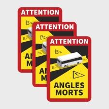 Toter Winkel Angles Morts - Bus / Magnetfolie 3 Stück