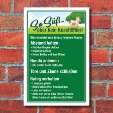 Schild Kühe Kuh Weidevieh Landwirtschaft Kein...