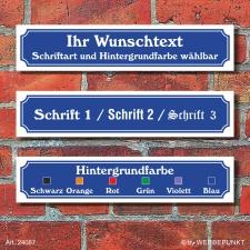 Straßenschild Hausnummer Schild nach Wunsch...