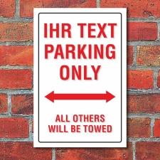 Schild American Style Deko Ihr Text Wunschtext Parkverbot...