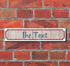 Retro Vintage Schild Straßenschild Ihr Text...