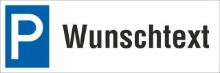 Schild Ihr Text Wunschtext Parkverbot Halteverbot Parkplatzschild 30x10 cm