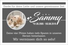 Gedenktafel Gedenkschild Grabschild Hund Katze Tier mit...