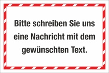 Kombischild Hinweisschild Firmenschild Wunschtext Eigener...