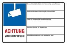 Schild Videoüberwachung videoüberwacht DSGVO...