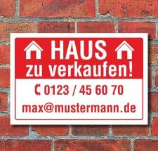 Schild Haus zu verkaufen Privat Wetterfest Alu-Verbund 3 mm
