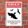 Schild Vorsicht Greifvögelattacke Adler Bussard Gefahr Hinweis 3 mm Alu-Verbund