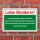 Schild Liebe Wanderer Verpackungen Müll entsorgen Hinweis 3 mm Alu-Verbund