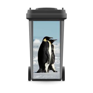 Mülltonnenaufkleber Mülltonne Abfalltonne Sticker Pinguine Antarktis Südpol