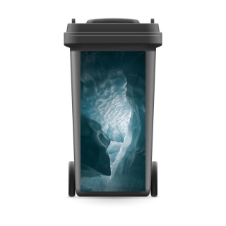Mülltonnenaufkleber Mülltonne Abfalltonne Sticker Eis Höhle Schweiz Gletscher