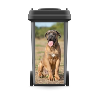 Mülltonnenaufkleber Mülltonne Mülleimer Abfalltonne Sticker Mastiff Hund Tier