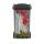 Mülltonnenaufkleber Mülltonne Abfalltonne Sticker Holz Zaun Blumen Pflanzen