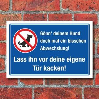 Schild Kein Hundeklo Hundehaufen Kot Abwechslung Kacken 3 mm Alu-Verbund