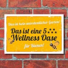 Schild Bienenwiese Insektenwiese Wellness Oase Garten 3...