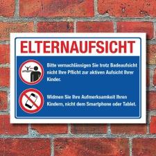 Schild Elternaufsicht Badeaufsicht Freibad Hallenbad...