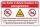 Schild Lebensgefahr Baden Schwimmen verboten Strömungen 3 mm Alu-Verbund