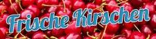 PVC Werbebanner Banner Plane Frische Kirschen Obst Ösen