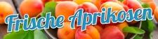 PVC Werbebanner Banner Plane Frische Aprikosen Obst...